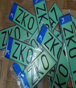 Właściciele samochodów elektrycznych i z napędem wodorowym mogą już składać wnioski o wymianę tablic rejestracyjnych na zielone