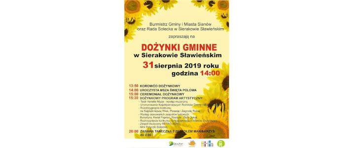 Dożynki Gminne w Sierakowie Sławieńskim – 31 sierpnia 2019 r.