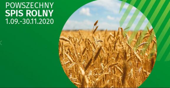 Powszechny Spis Rolny  od 1 września do 30 listopada 2020 r.