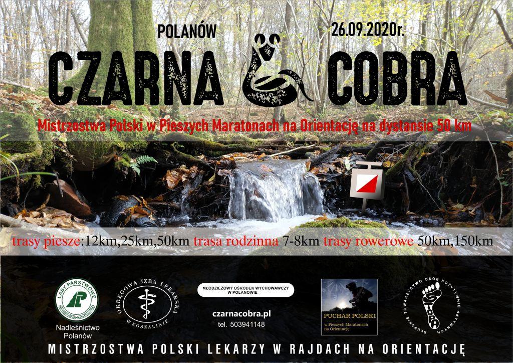 """plakat informacyjny Czarna Cobra 2020"""". 26 września zapraszamy do Planowa"""