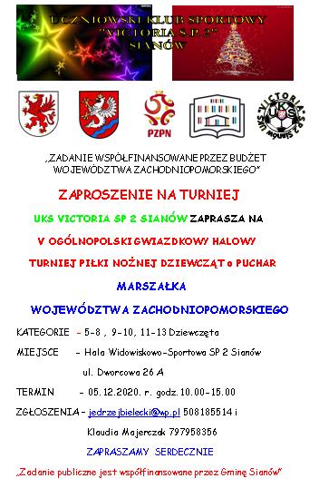 plakat informacyjny o V turnieju gwiazdkowym w Sianowie