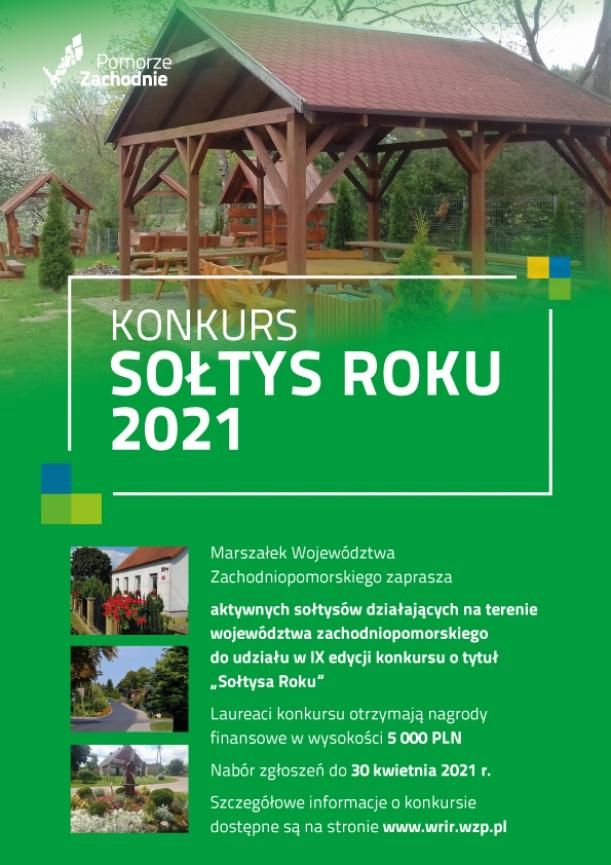 plakat informacyjny Sołtys roku 2021