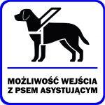 infografka, mozliwość wejścia do budynku z psem asystującym