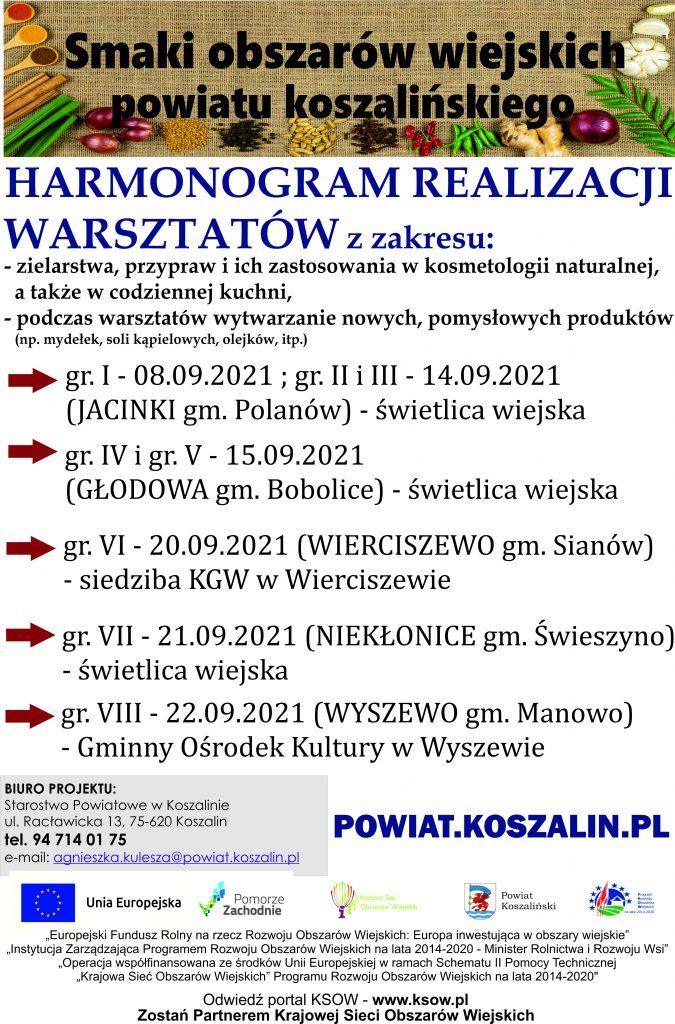 Harmonogram realizacji warsztatów_plakat