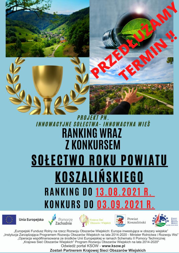 plakat promujący ranking powiatu