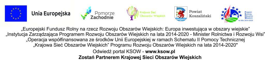 baner z zestawem logotypów dot. finansowania projektu w ramach Krajowej Sieci Obszarów Wiejskich
