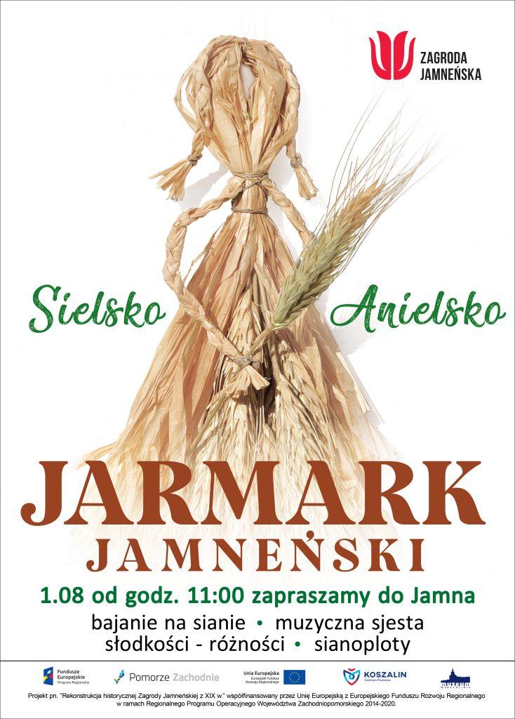 plakat zapraszający na wydarzenie Jarmark Jamneński w dniu 01.08.2021, Jamno