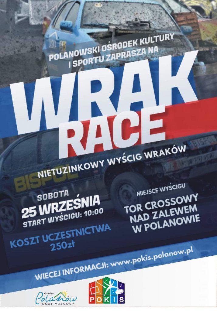 Wrak Race, wyścig wraków, 25 września godz. 10 tor crossowy nad zalewem w Polanowie