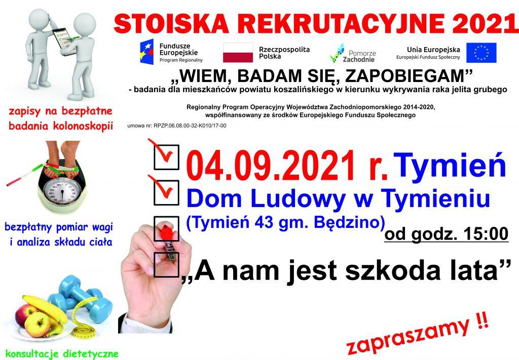 plakat zapraszający na wydarzenie pn. A nam jest szkoda lata, odbędzie się w Tymieniu od godz. 15 w dniu 4.09.2021