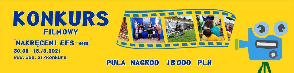 baner promujący konkurs filmowy Nakręceni EFS_em