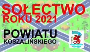 banerek informujący o wybranym sołectwie powiatu koszalińskiego w ramach proejktu KSOW